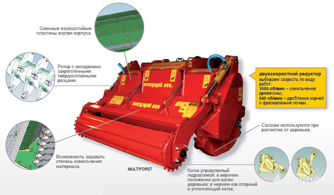 New SEPPI M MULTIFORST mulcher for sale from Ukraine, buy mulcher